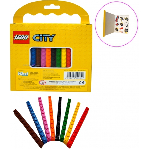 Lego 'City' Mini Poster Art Set Colouring Stationery