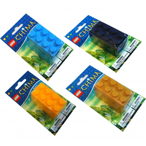Lego Chima 'Sky Blue, Yellow, Navy Light Brown' Assorted Sharpener Stationery