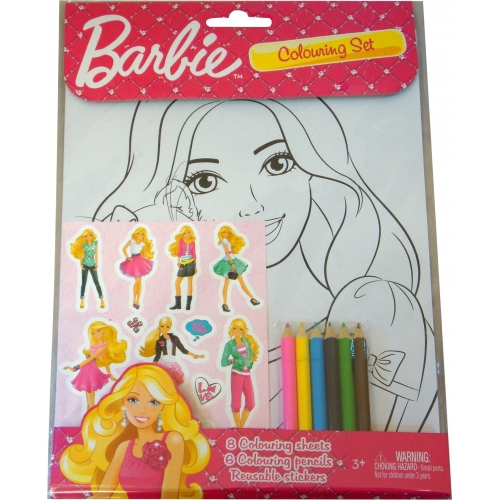 Barbie Colouring Set Stationery