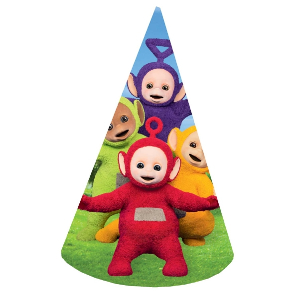 Teletubbies 8 Pack Party Hats Accessories