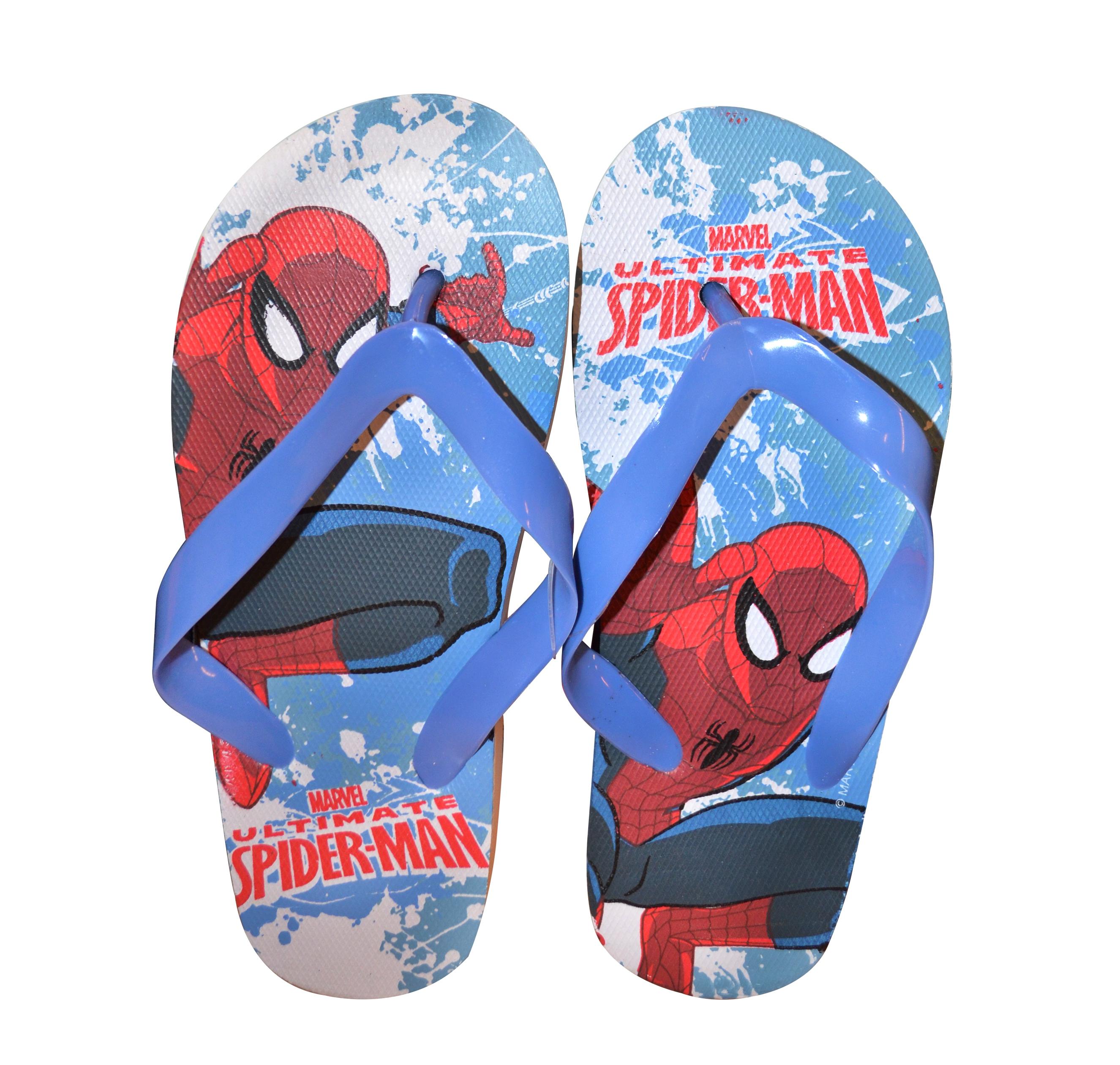 Spiderman Flip Flops 9-10 Footwear