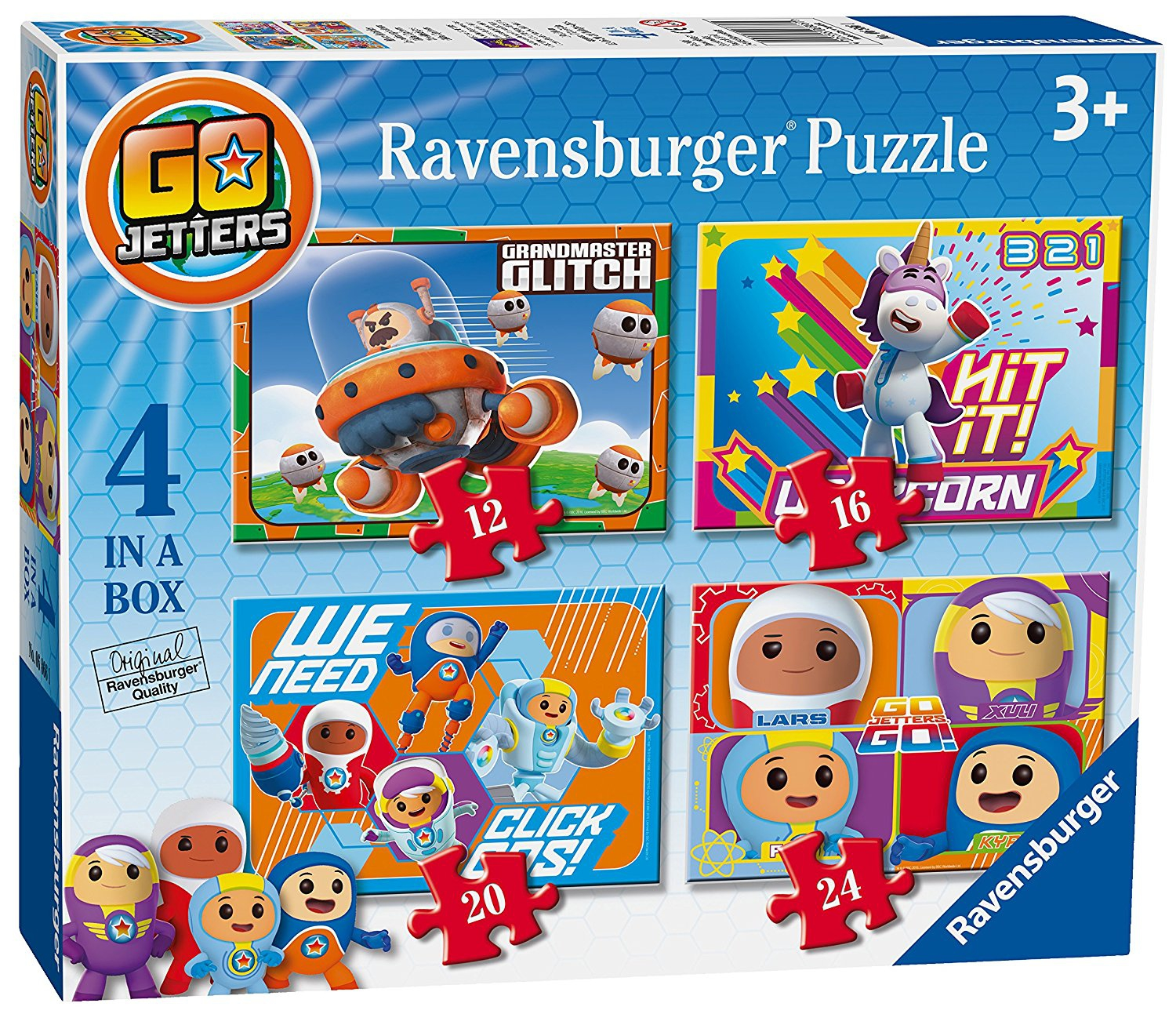 Go Jetters 12 16 20 24 Piece 4 Jigsaw Puzzle Game