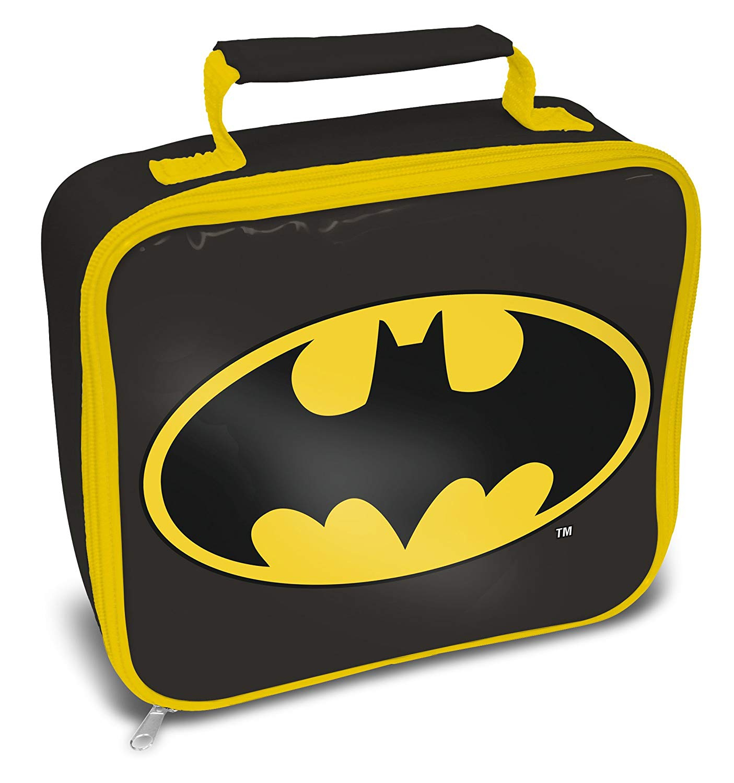 Batman Logo Black & Yellow School Rectangle Lunch Bag