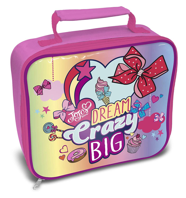 Jojo Siwa Bows Dream Crazy Big Lunch Box Bag
