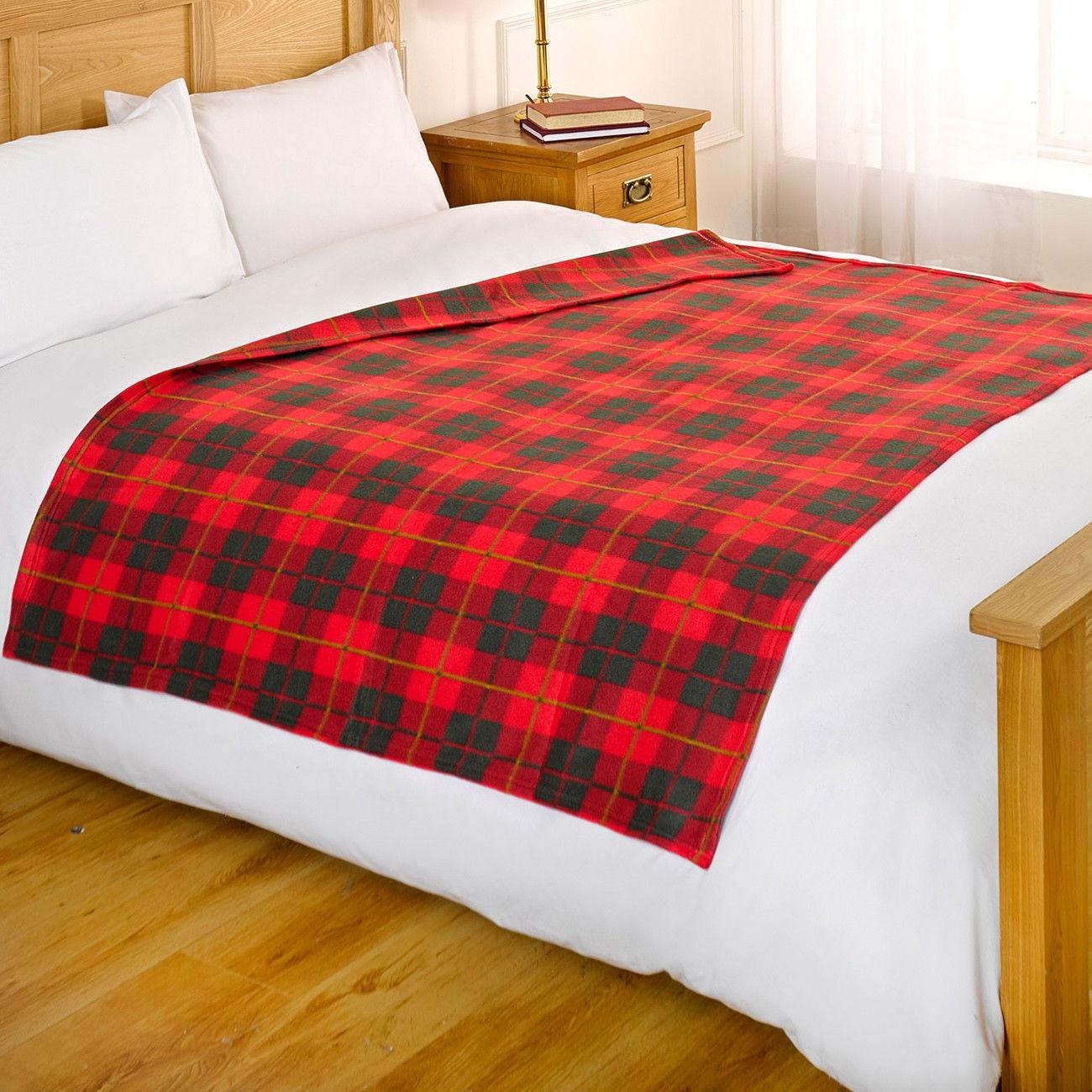 Dreamscene Bed Fleece Throw Blanket Super Soft Warm
