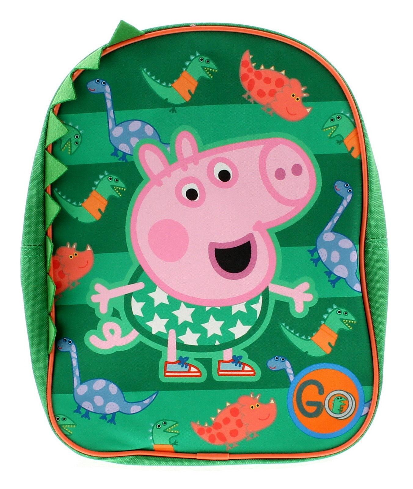 Peppa Pig George Green School Bag Rucksack Backpack