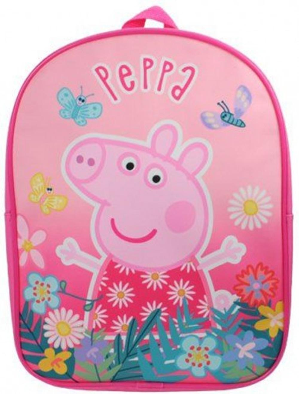 Peppa Pig Beatiful Pink School Bag Rucksack Backpack