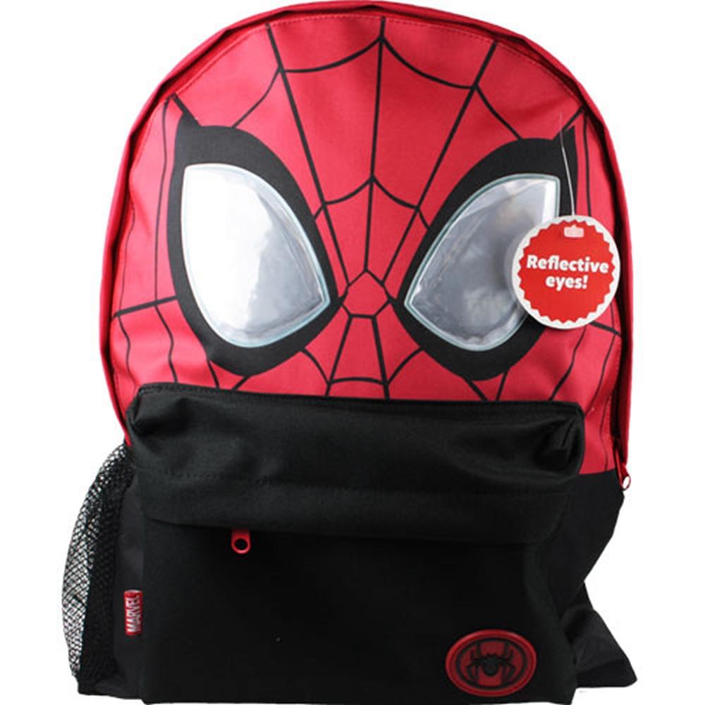 Spiderman Reflective Eyes Roxy School Bag Rucksack Backpack