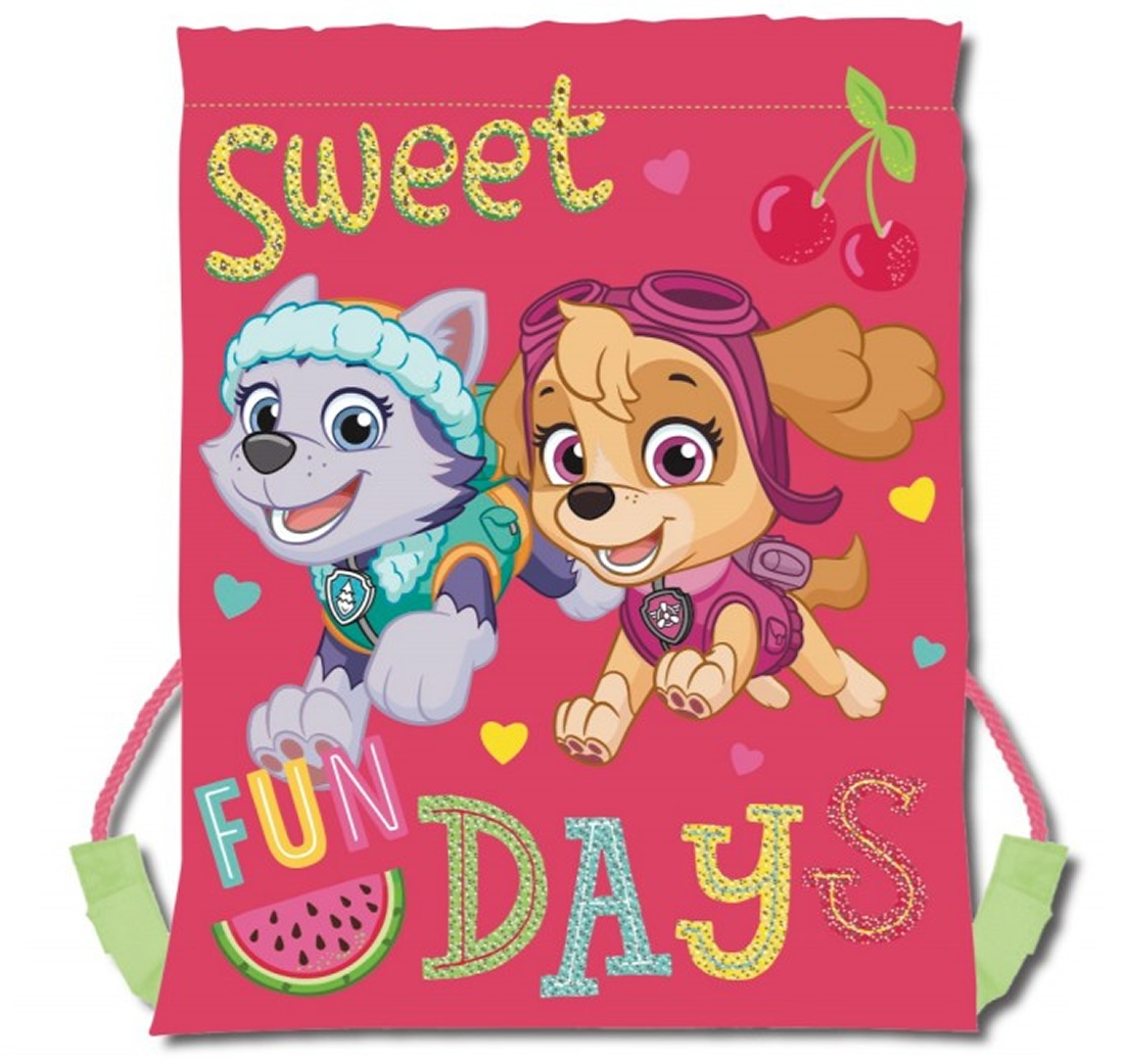 Paw Patrol Sweet Days Drawstring School Pe Gym Trainer Bag