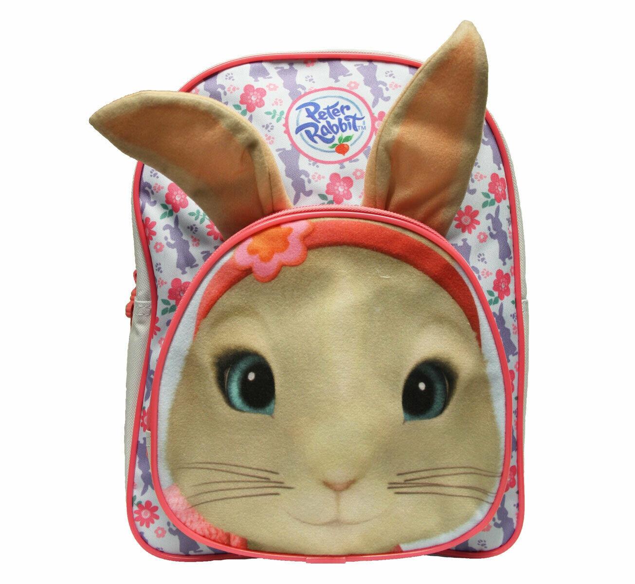 Peter Rabbit Girls Floral Print Blue/pink School Bag Rucksack Backpack