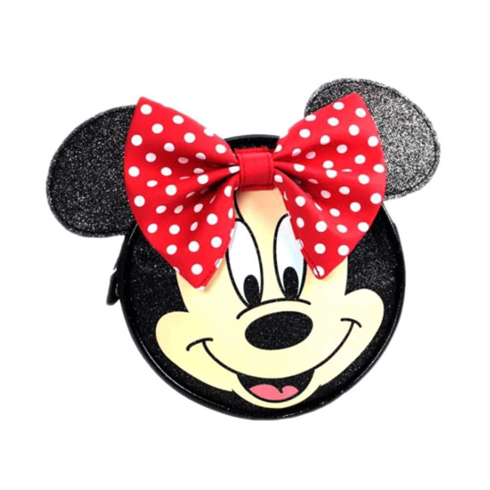 Minnie Mouse Face & 3d Ears School Cross Body Bag