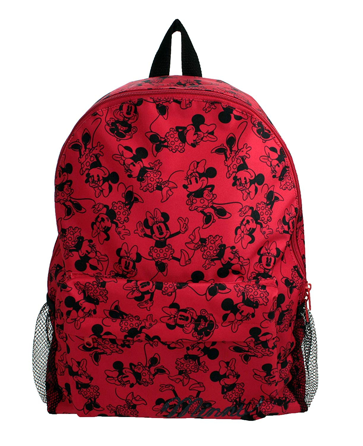 Disney Minnie Mouse Poses Large Roxy Red & Black School Bag Rucksack Backpack