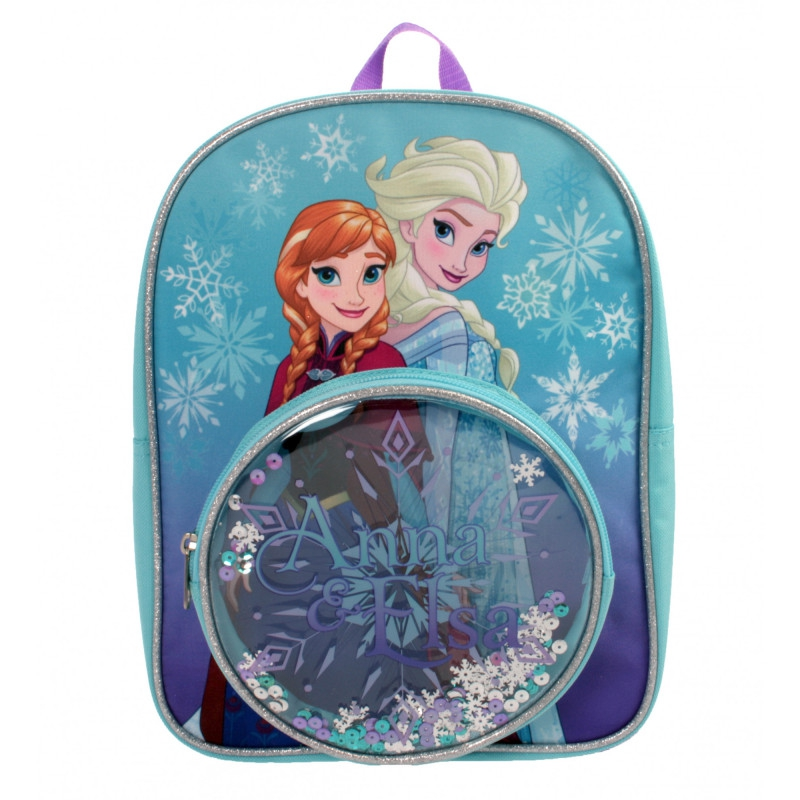 Disney Frozen Snowflake Pocket School Bag Rucksack Backpack