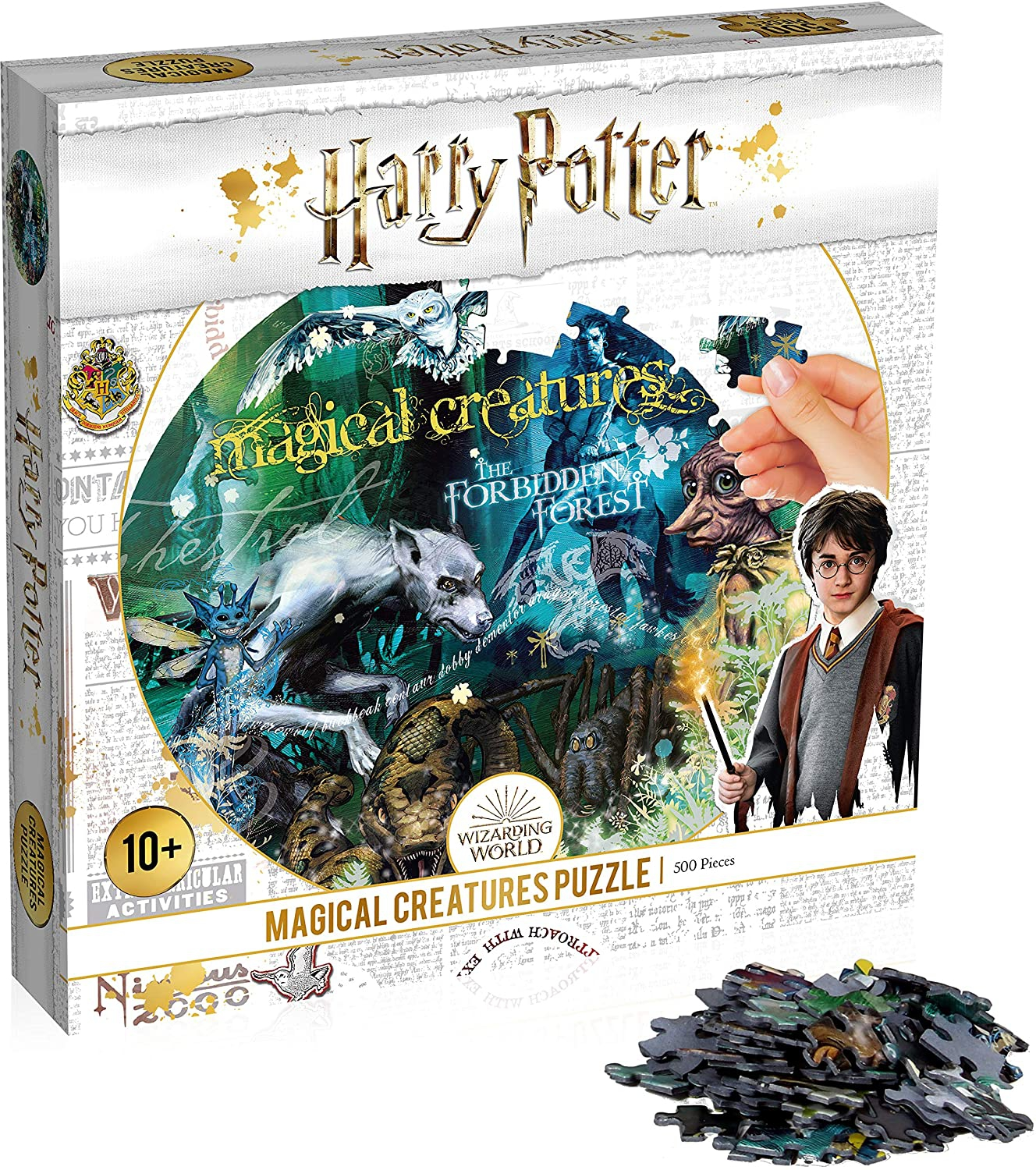 Harry Potter Collectors Round Magical Creatures 500 Piece Jigsaw Puzzle Game