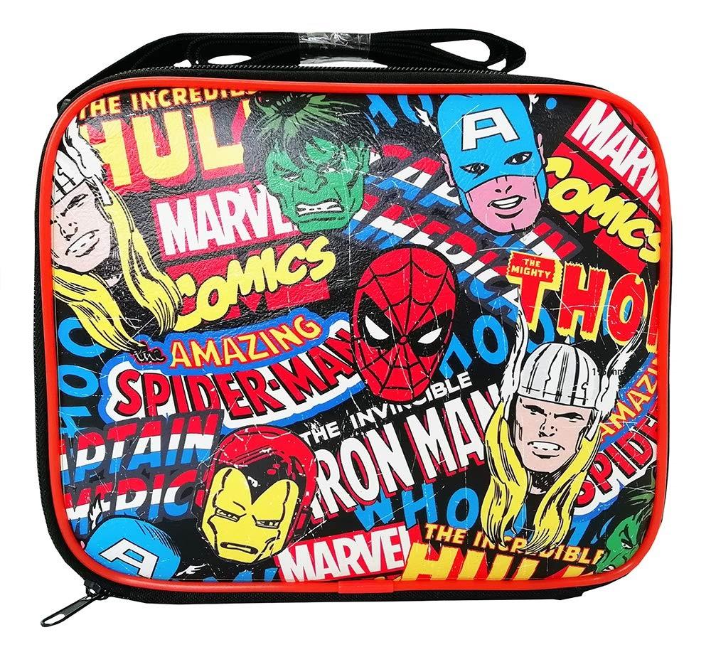 Marvel Avengers Comics School Rectangle Lunch Bag