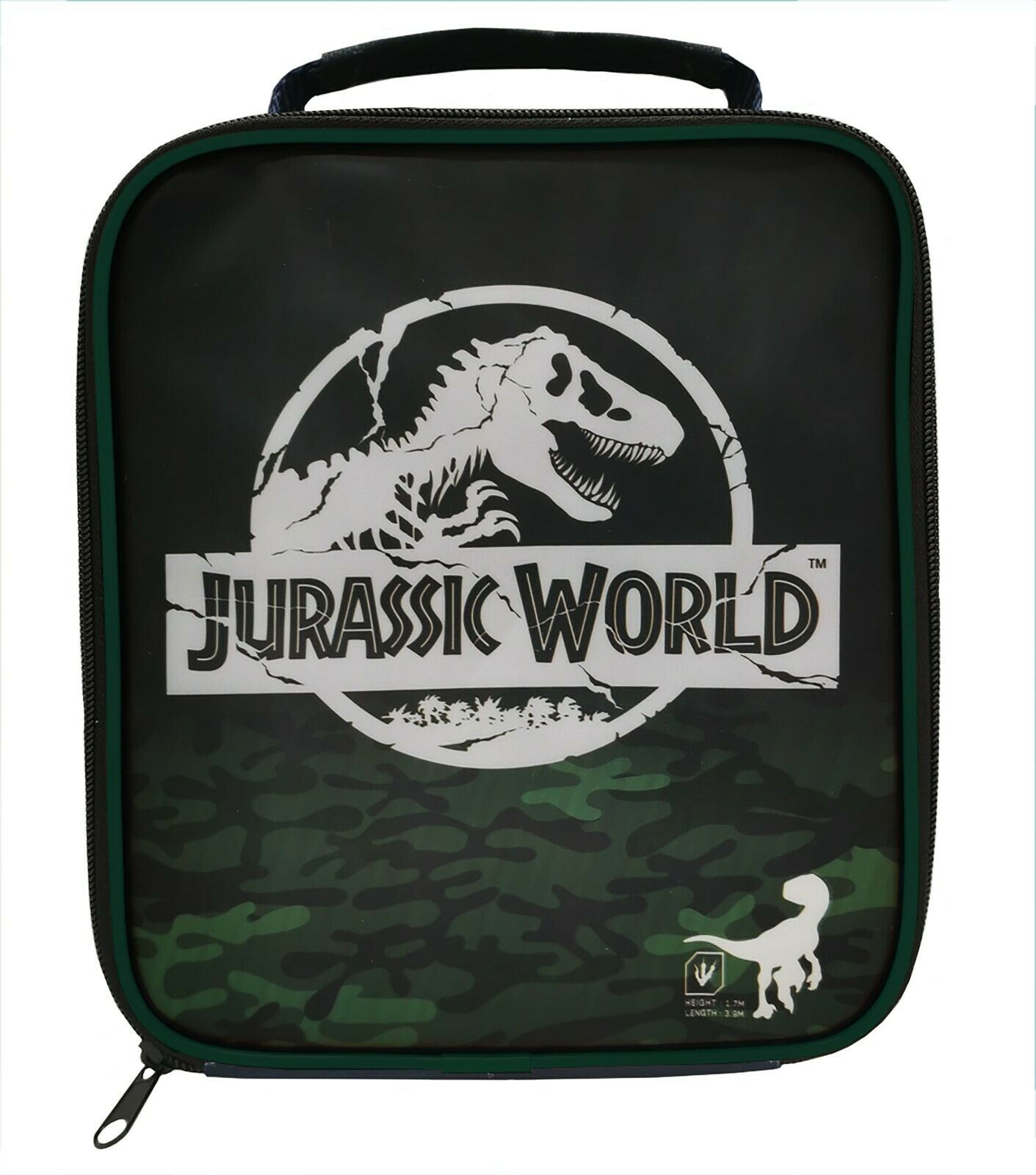 Jurassic World Green School Premium Lunch Bag Insulated