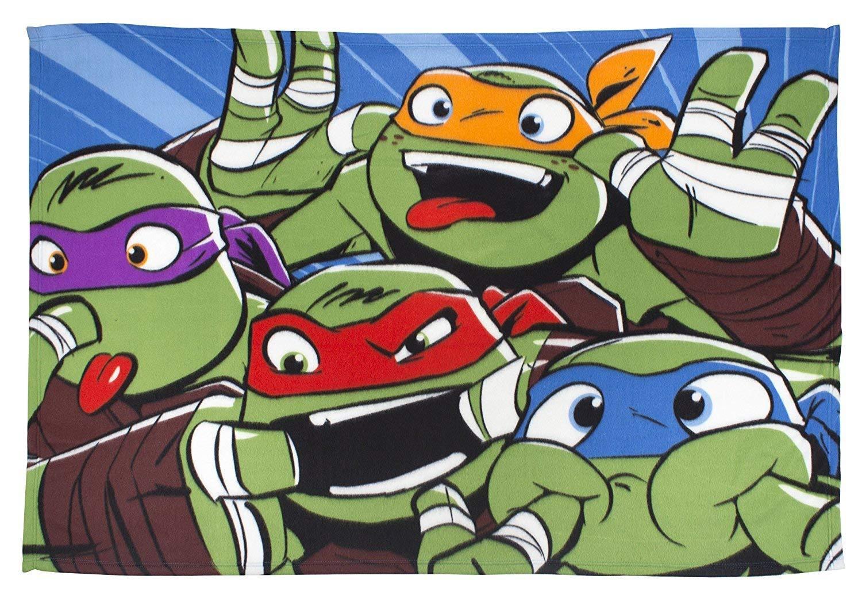 Turtles Clowns Rotary Fleece Blanket Throw