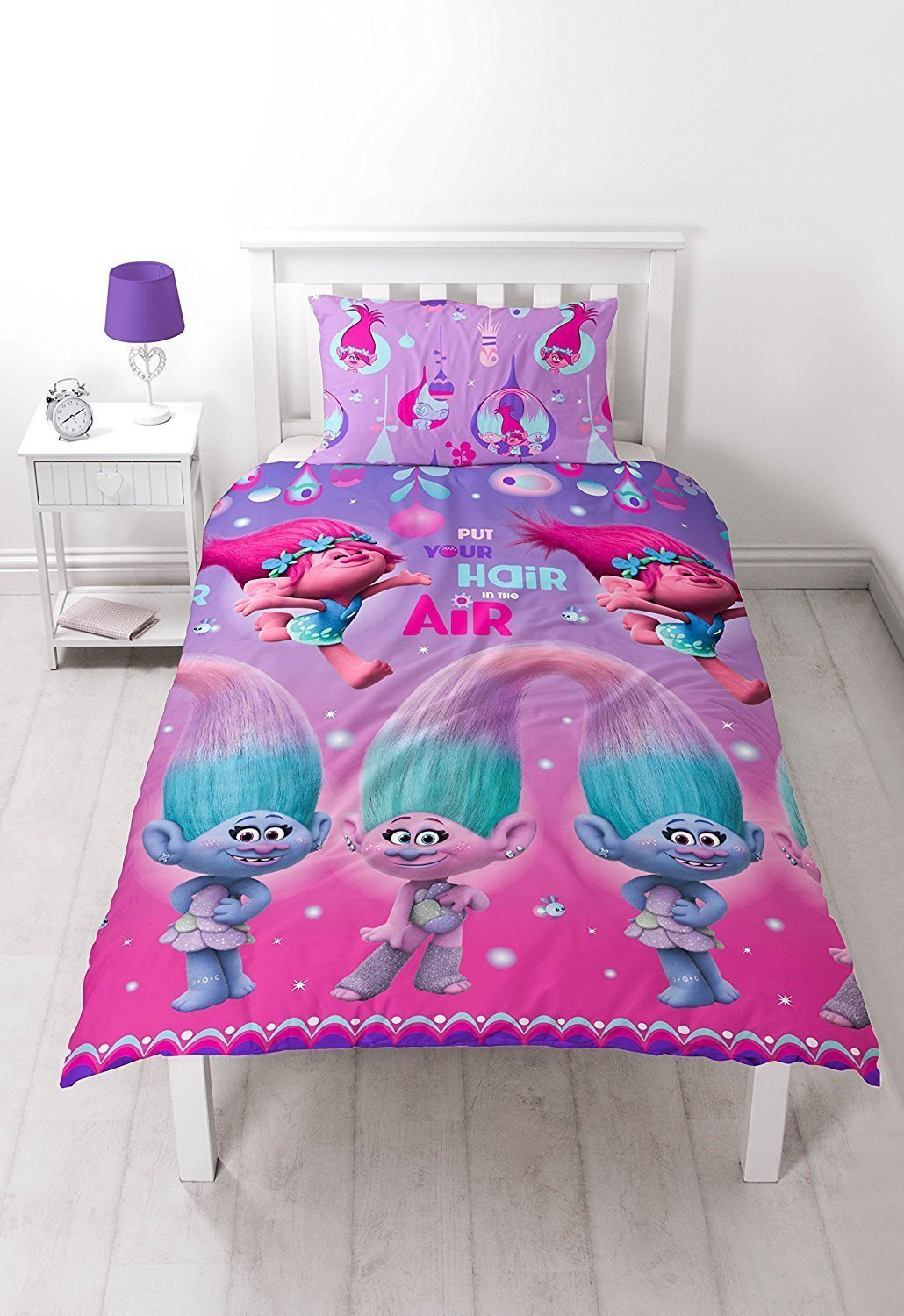 Trolls Glow Reversible Rotary Single Bed Duvet Quilt