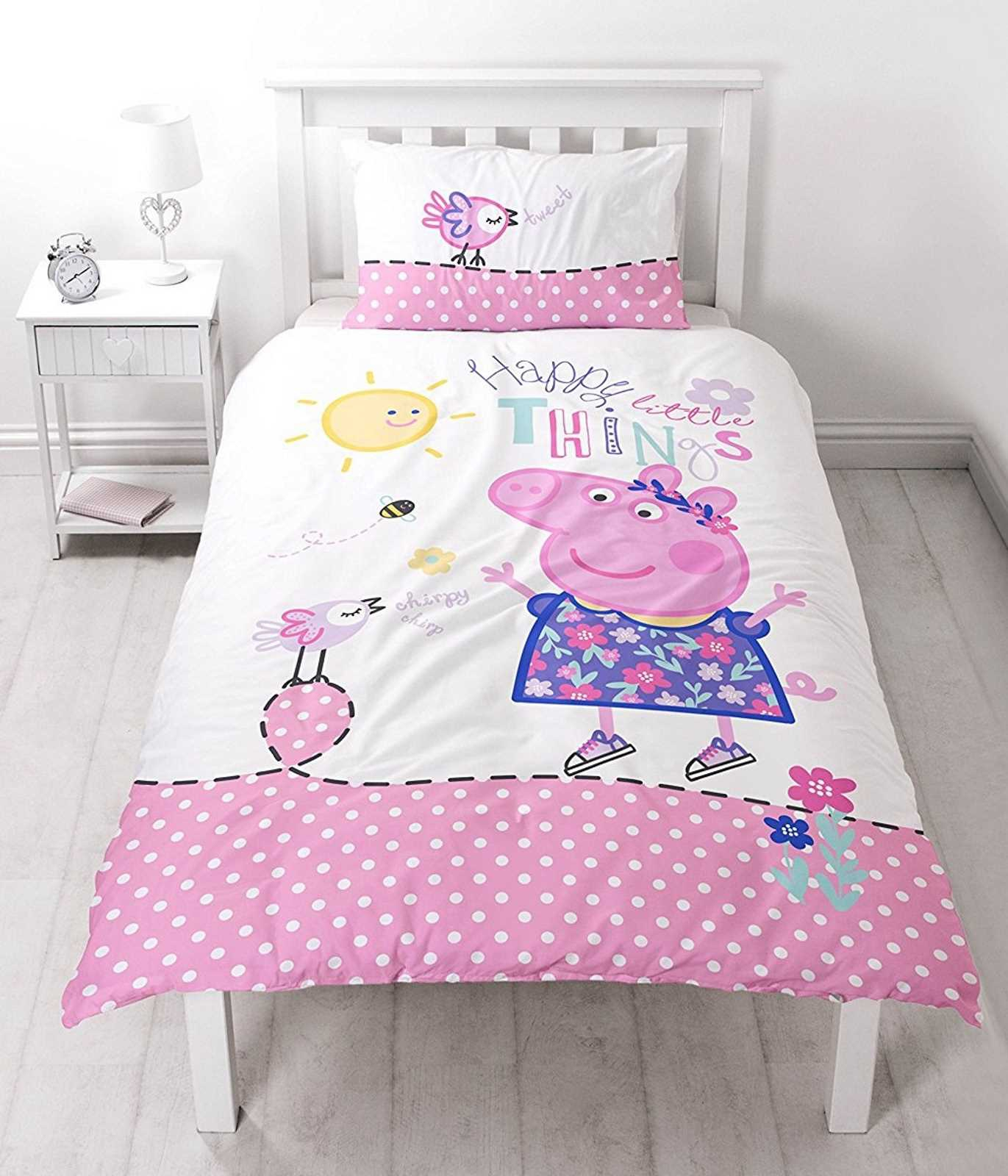Peppa Pig Happy Reversible Panel Single Bed Duvet Quilt