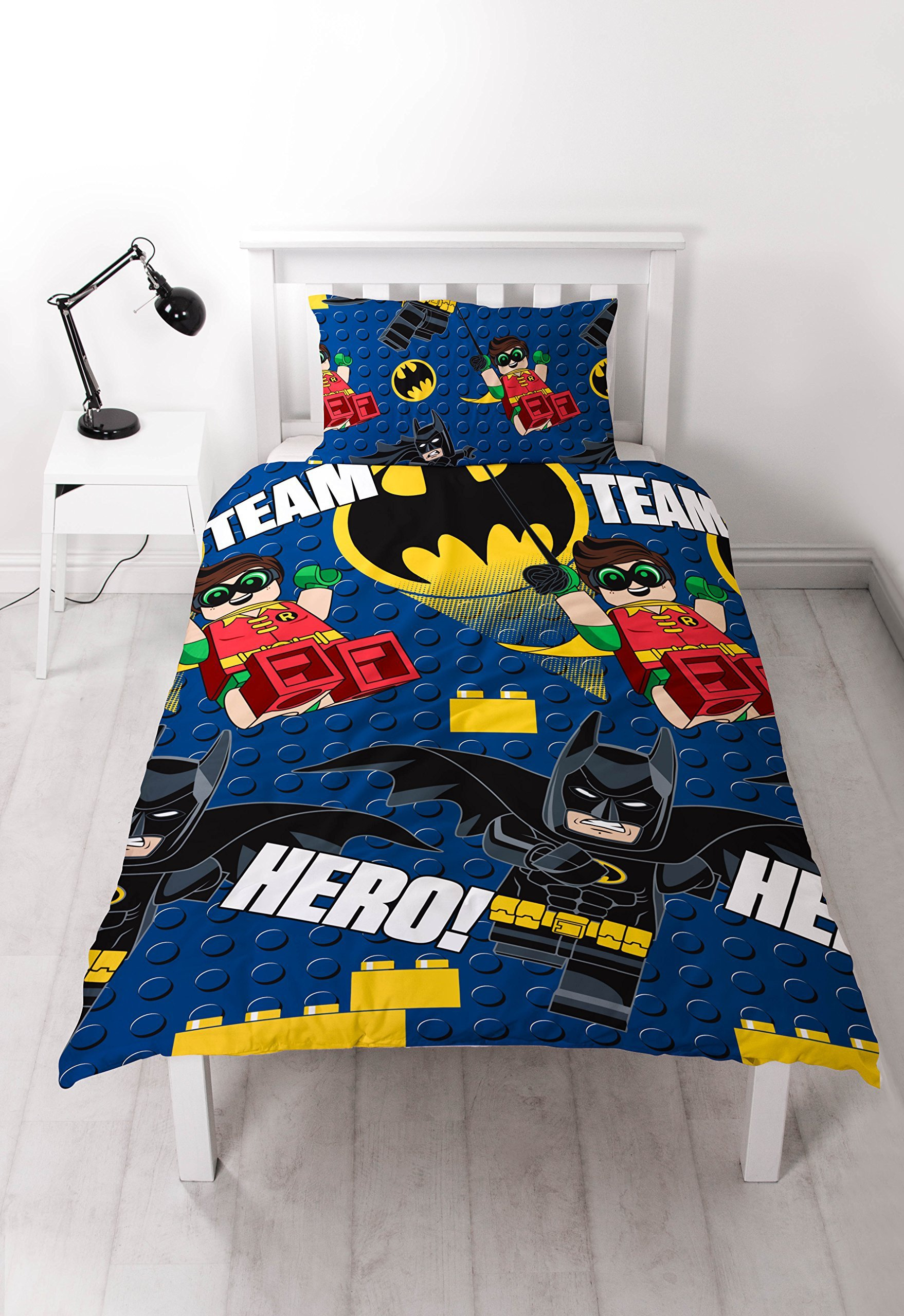 Lego Batman Movie Reversible Rotary Single Bed Duvet