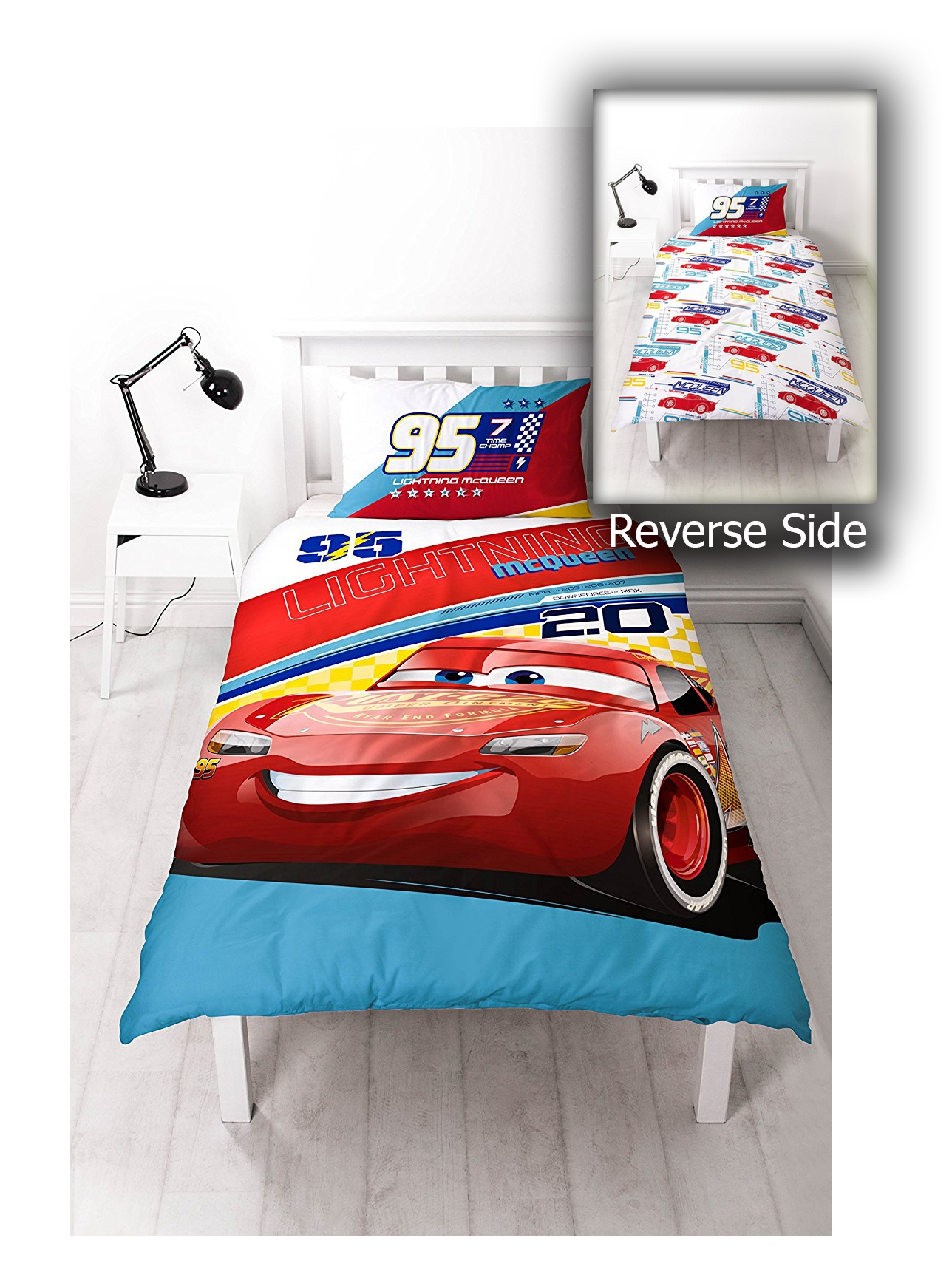 Disney Cars 3 Lightning Mcqueen Reversible Panel Single
