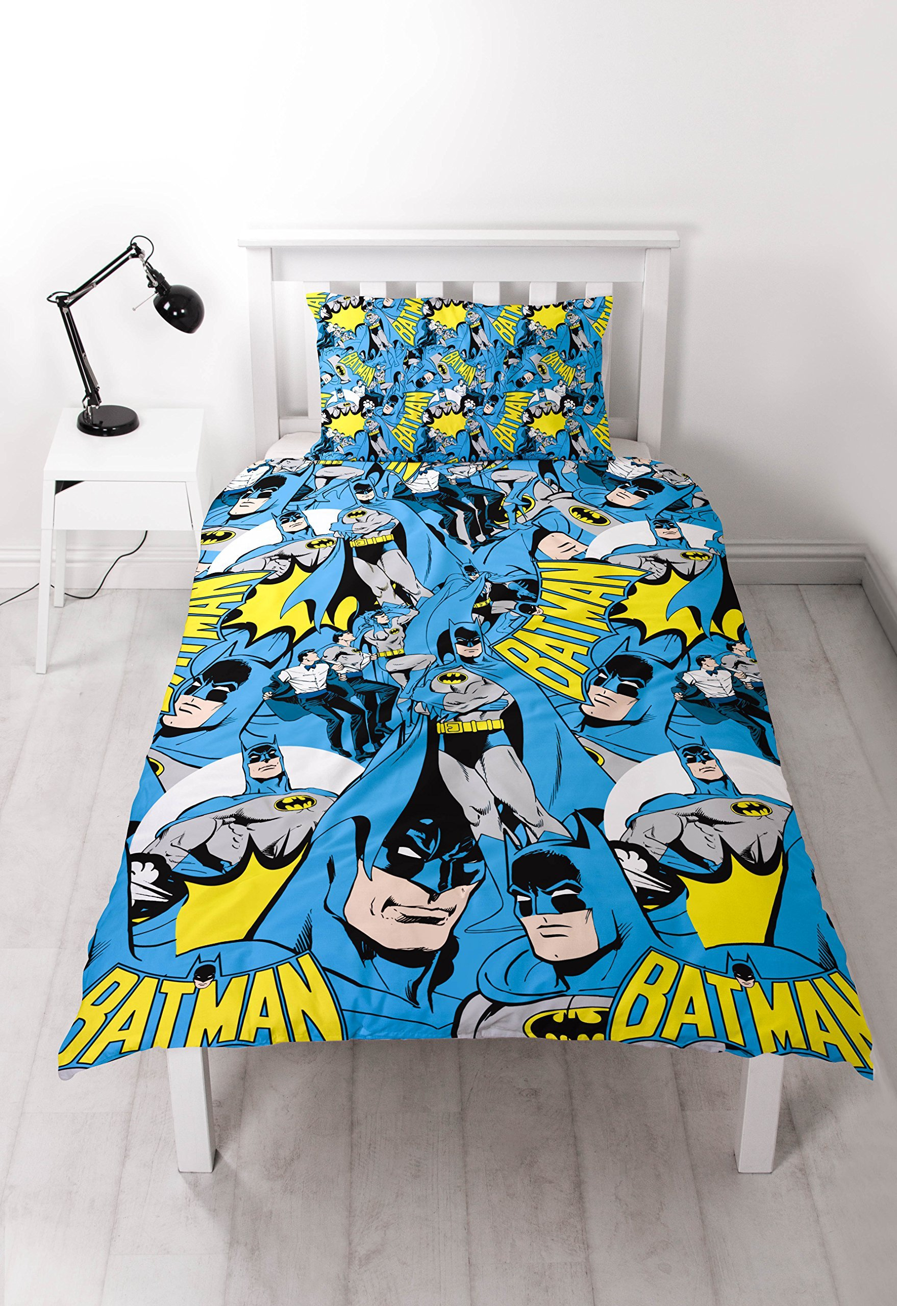 Batman Hero Reversible Rotary Single Bed Duvet Quilt