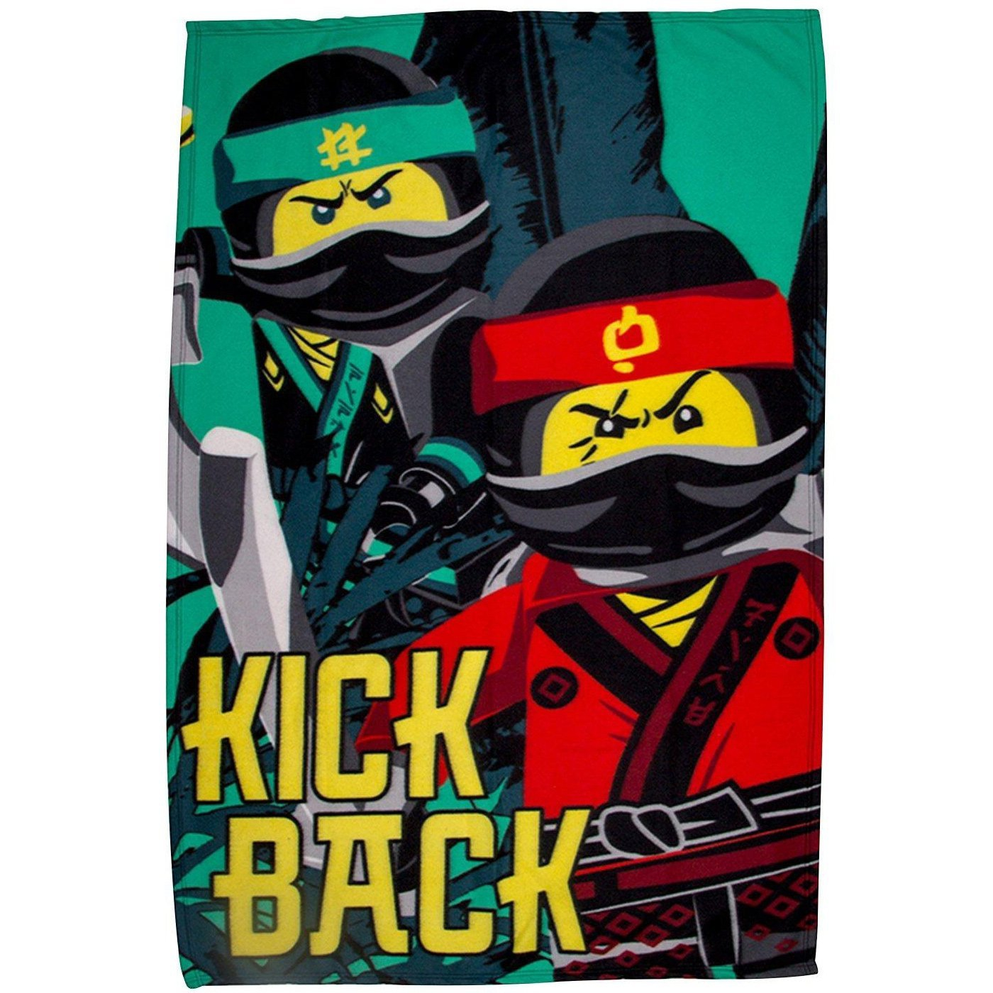 Lego Ninjago Movie 'Jungle' Panel Fleece Blanket Throw