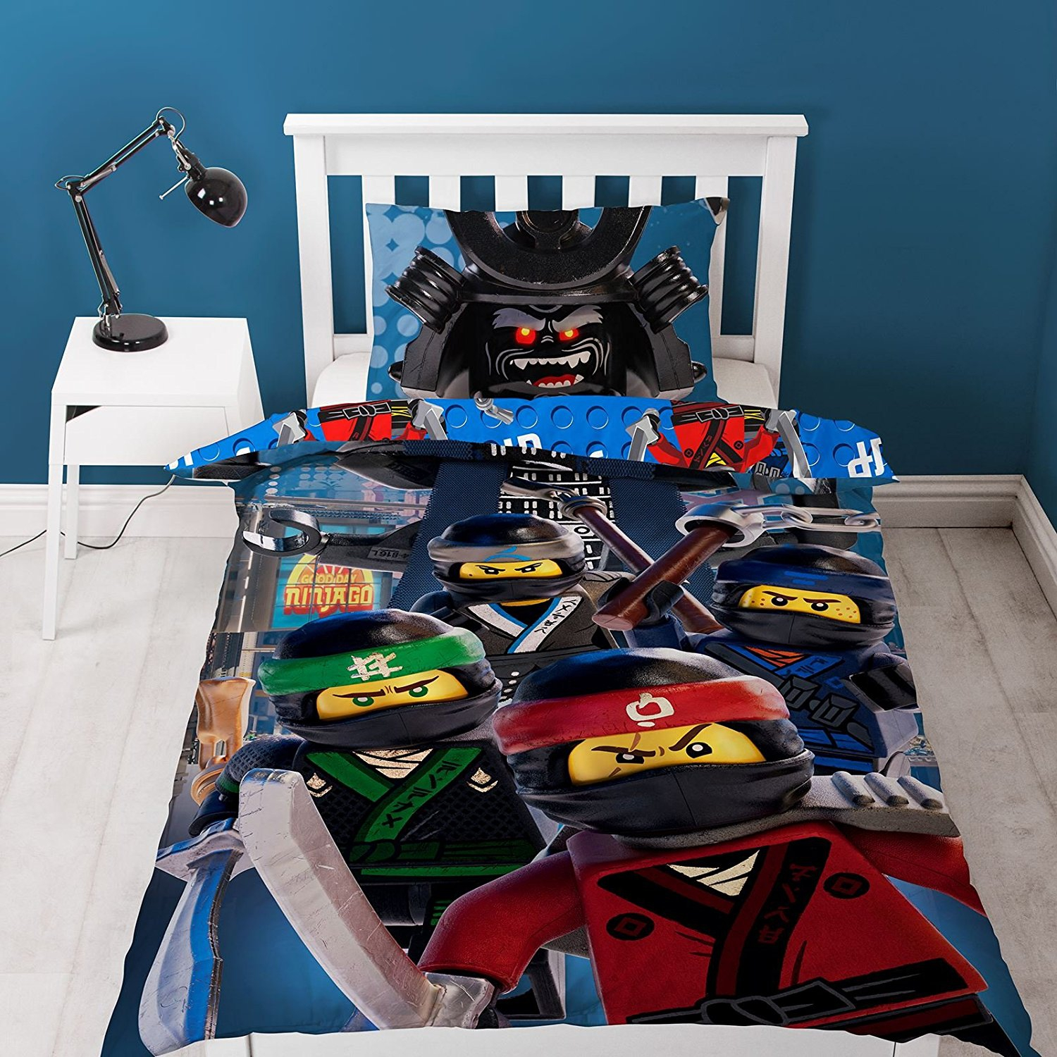 The Lego Ninjago Movie Crew Reversible Panel Single Bed