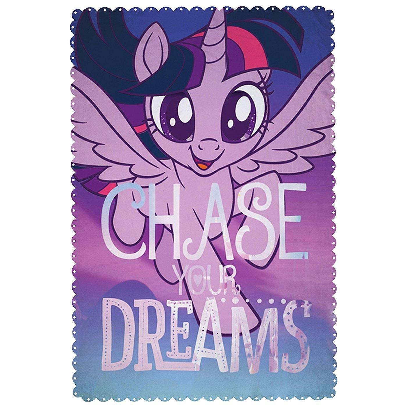 My Little Pony Movie 'Adventure' Panel Fleece Blanket Throw
