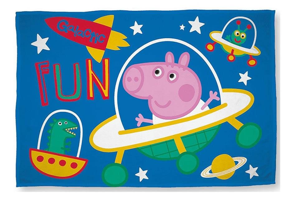 Peppa Pig George 'Planets' Panel Fleece Blanket Throw