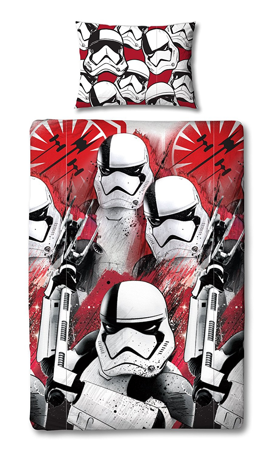 Disney Star Wars Episode 8 'Trooper' Reversible Rotary Single Bed Duvet Quilt Cover Set