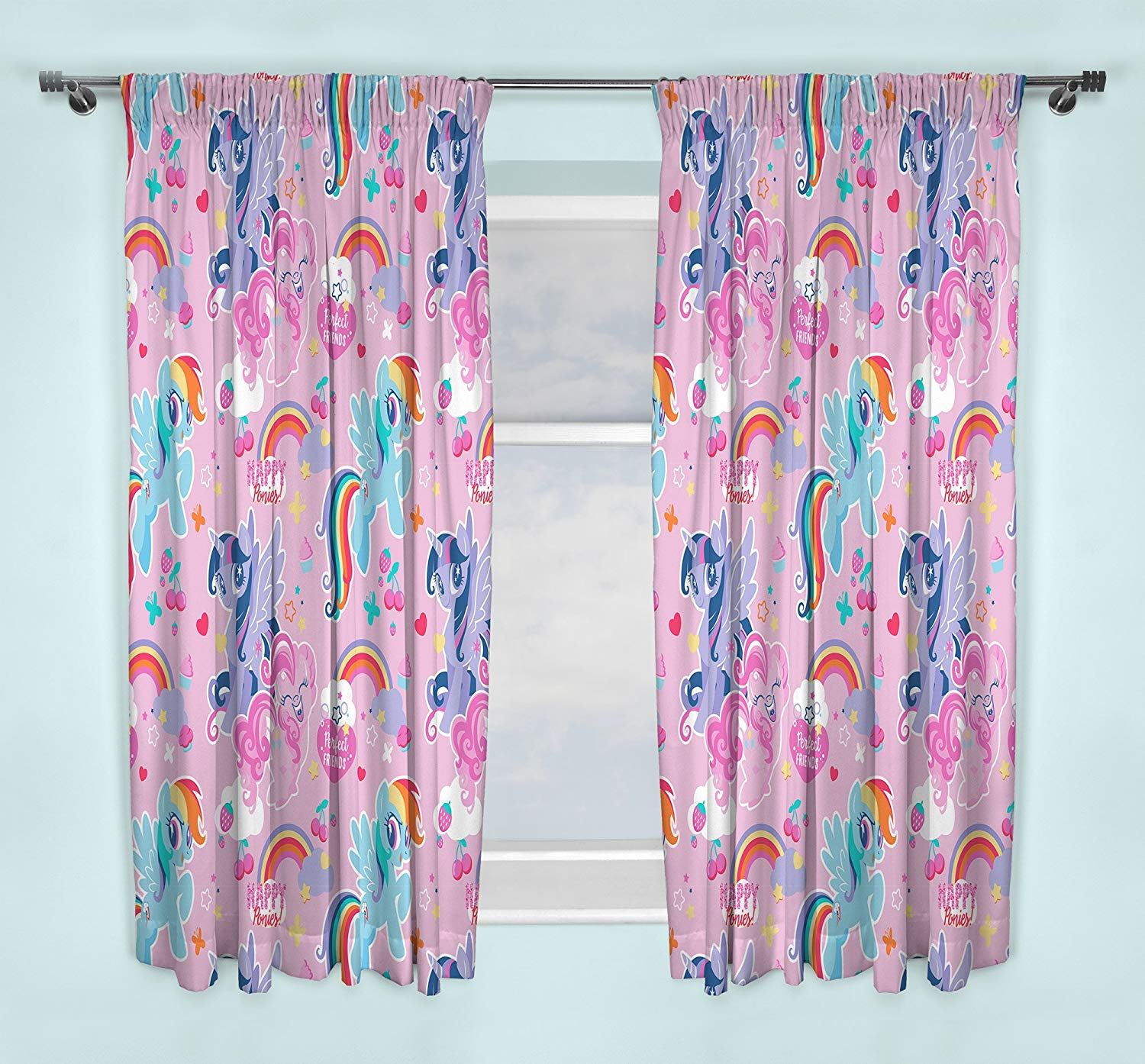 My Little Pony Crush 66 X 54 inch Drop Curtain Pair