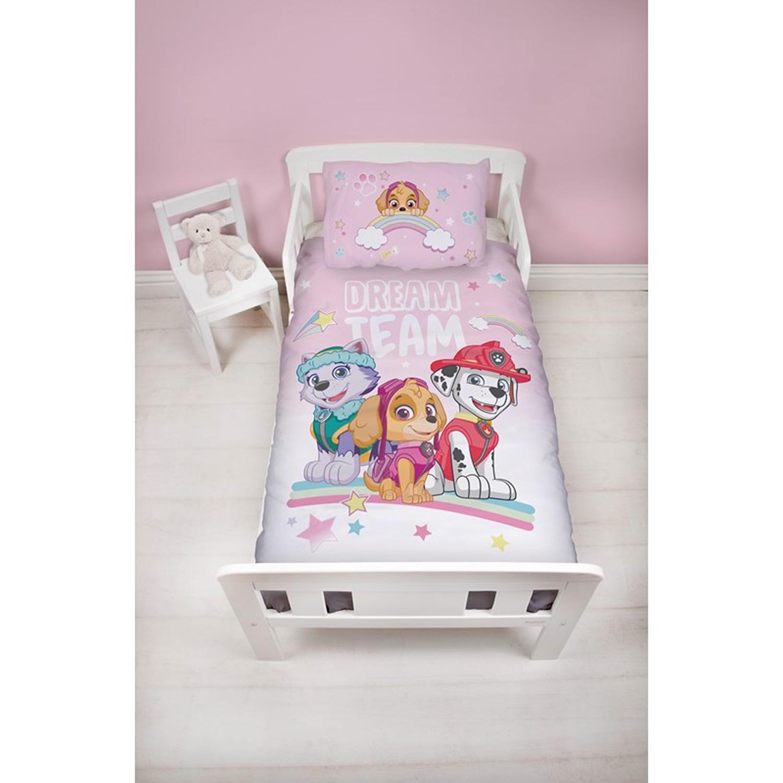 Paw Patrol Pastels Panel Junior Cot Bed Duvet Quilt Cover Set
