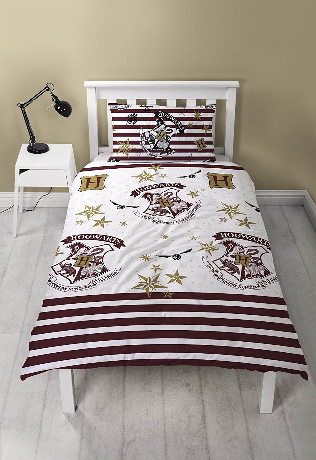 Harry Potter Single Reversible Duvet Rotary Bed Quilt Cover Set
