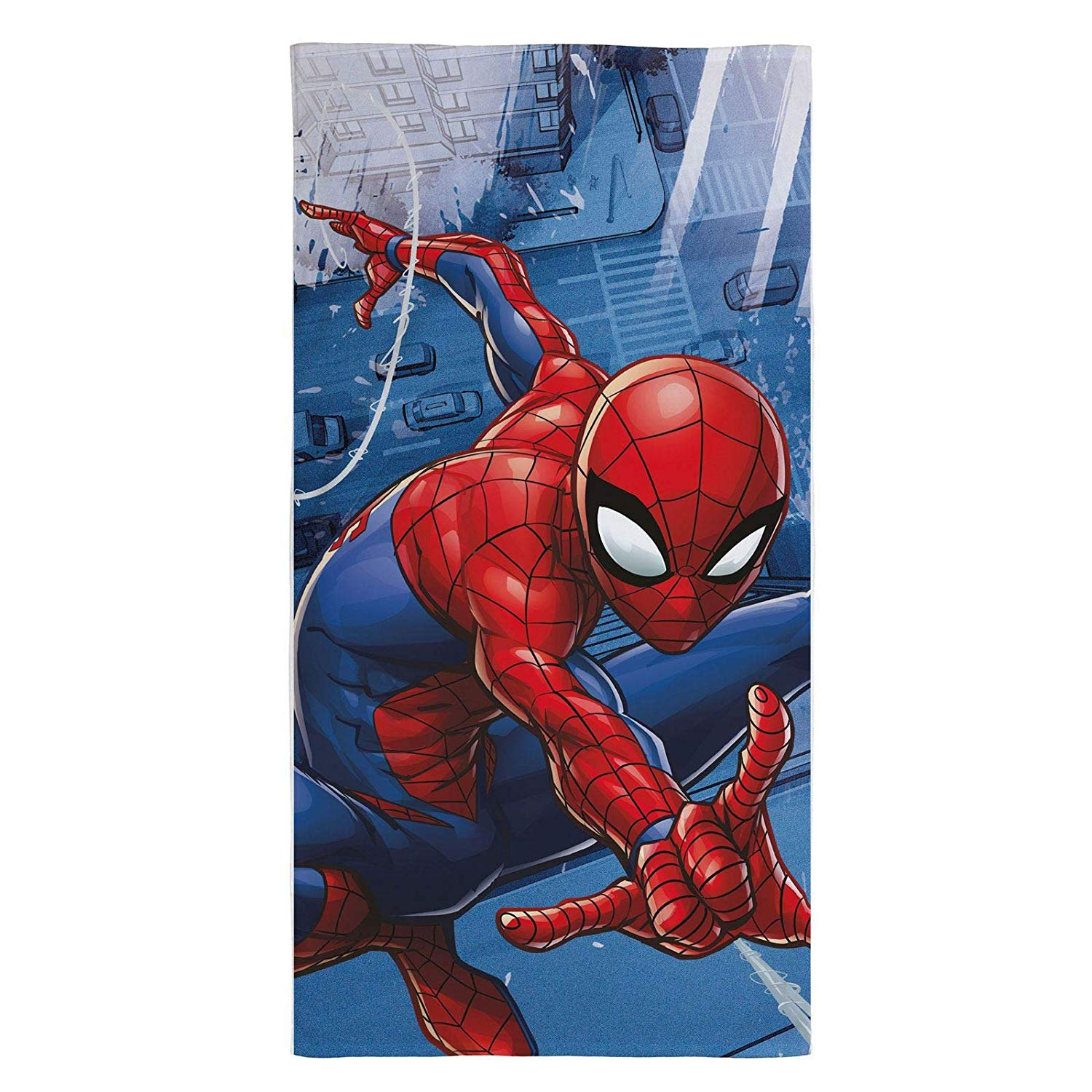 Official Ultimate Spiderman Towel Blue Printed Beach