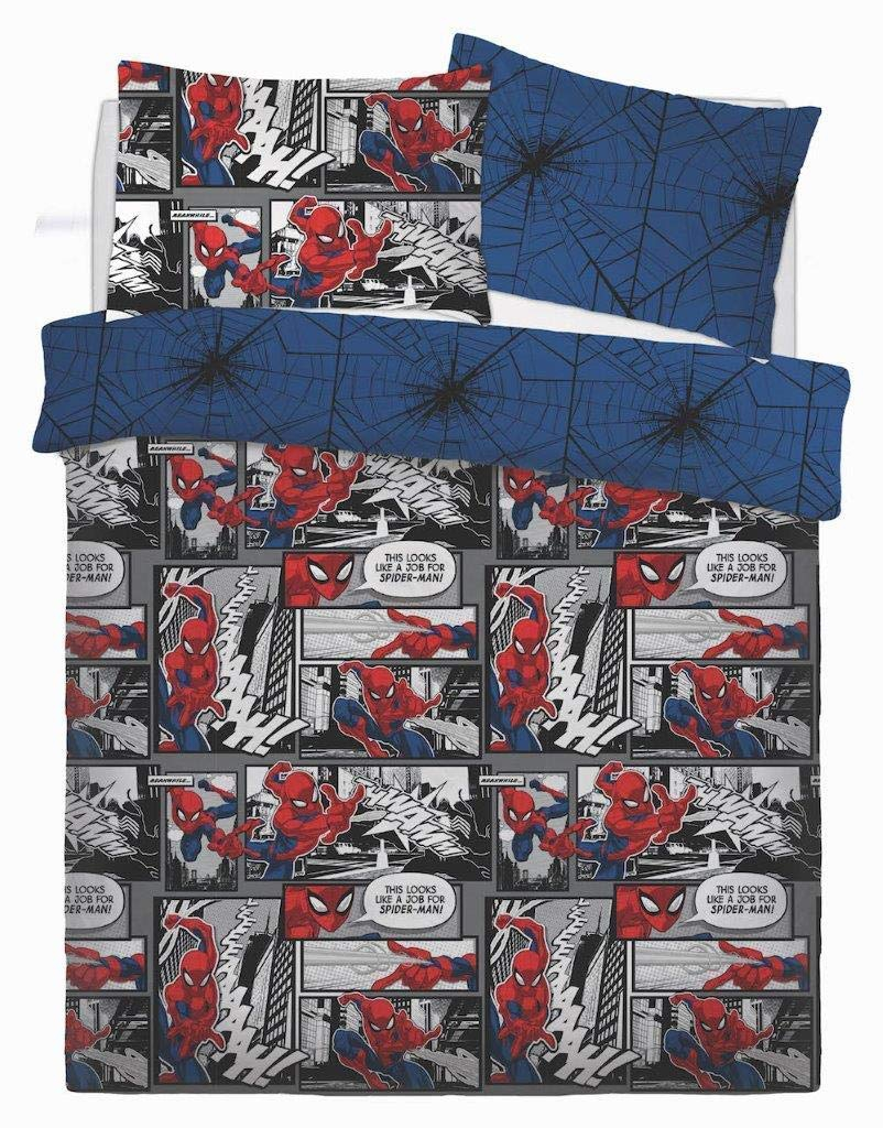 Spiderman 'Webs' Panel Double Bed Duvet Quilt Cover Set