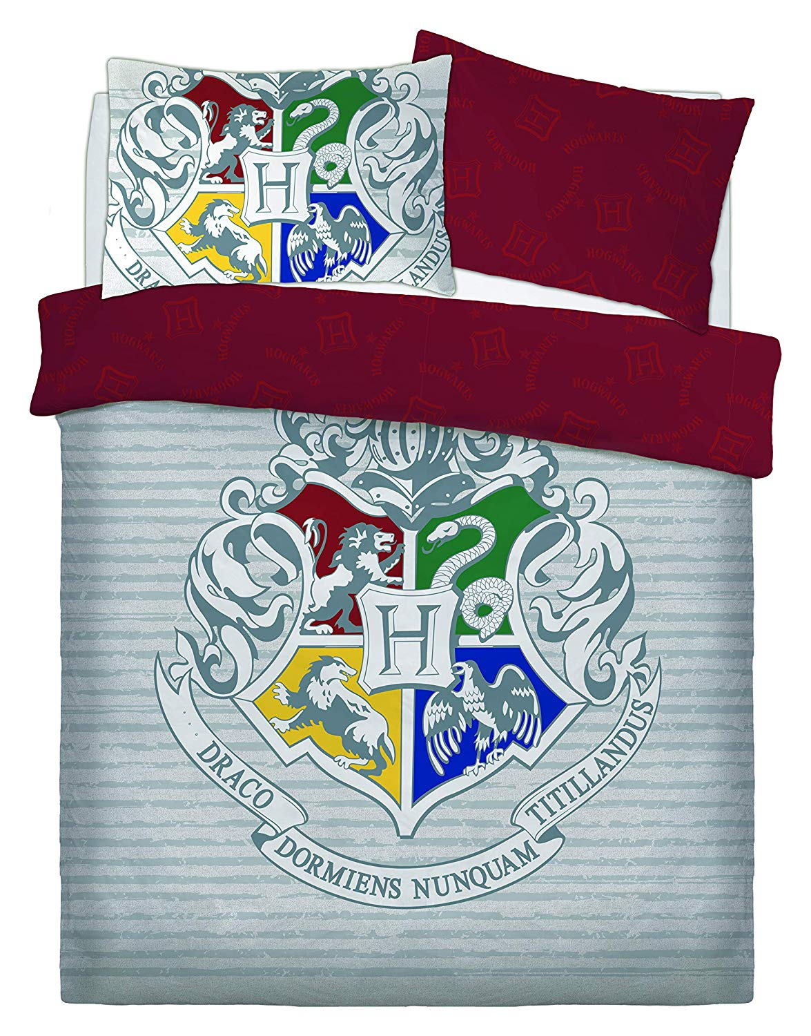 Harry Potter Witchcraft Wizardry Panel Double Bed Duvet Quilt Cover Set