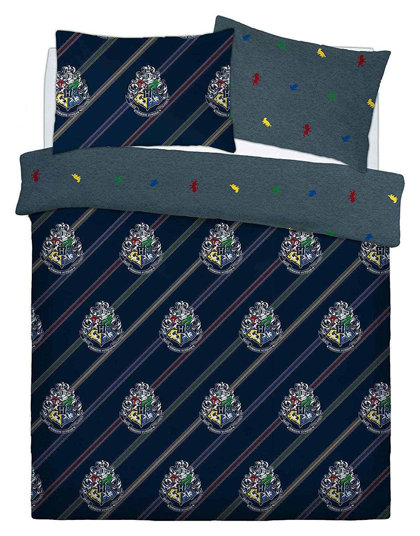 Harry Potter House Colours Panel Double Bed Duvet Quilt Cover Set