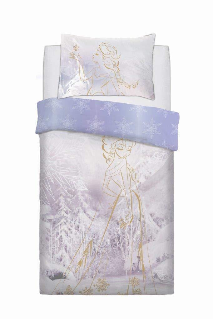 Disney Frozen Rose Gold Reversible Panel Single Bed Duvet Quilt Cover Set