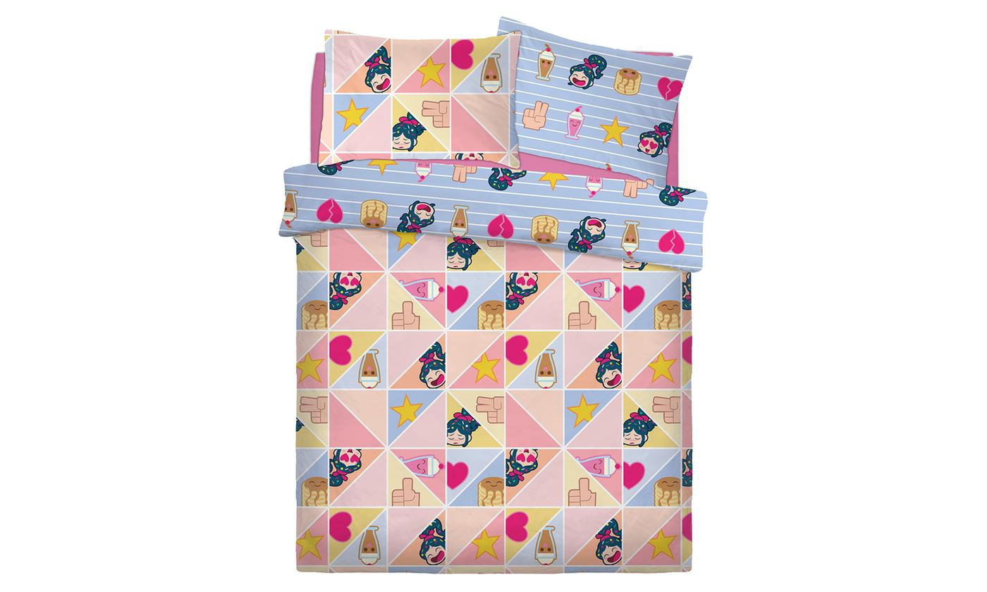 Disney Wreck It Ralph Prismatic Rotary Double Bed Duvet Quilt Cover Set