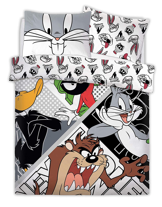 Looney Tunes Crew Panel Single Bed Duvet Quilt Cover Set