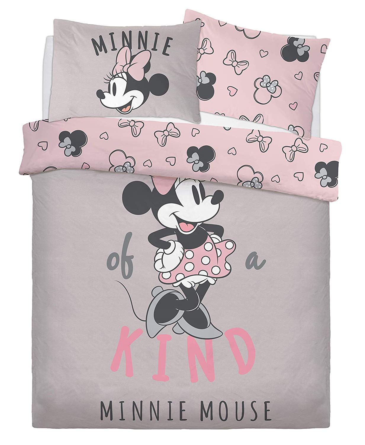 Disney Minnie Mouse One of a Kind Panel Double Bed Duvet Quilt Cover Set