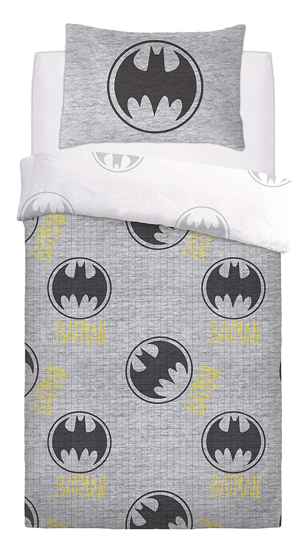 Batman Grey Lego Rotary Single Bed Duvet Quilt Cover Set