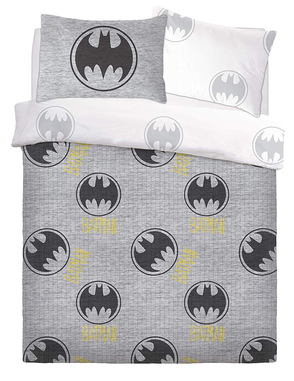 Batman Grey Lego Rotary Double Bed Duvet Quilt Cover Set