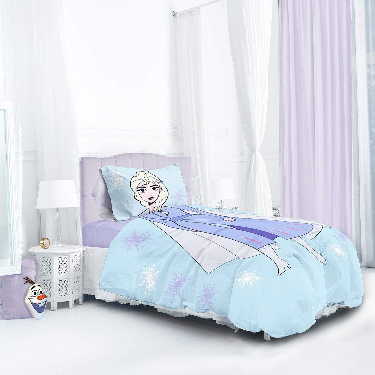 Disney Frozen 2 Sisters Kids Reversible Panel Single Bed Duvet Quilt Cover Set