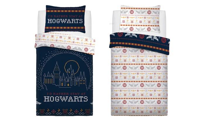 Harry Potter Hogwarts Break Reversible Panel Single Bed Duvet Quilt Cover Set