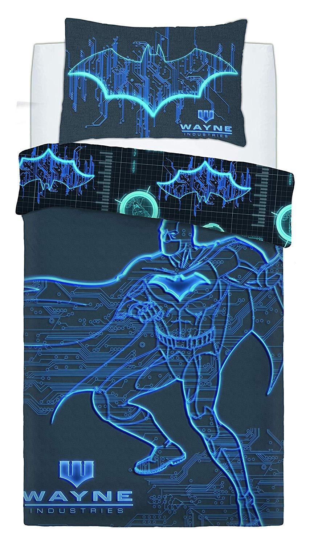 Batman Wayne Industries Panel Single Bed Duvet Quilt Cover Set