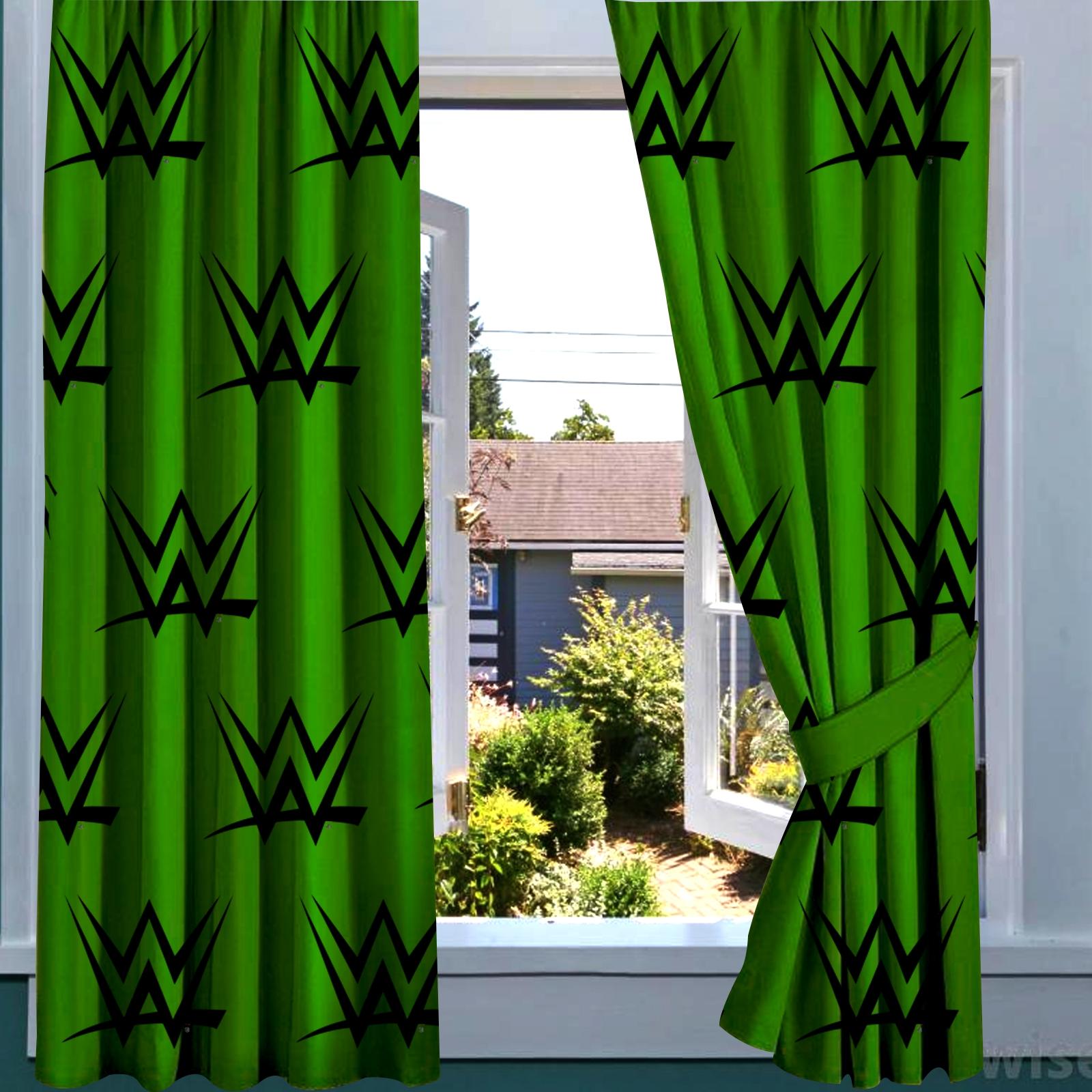 WWE Block 66 X 72 Inch Drop Curtain Pair 5060322093819
