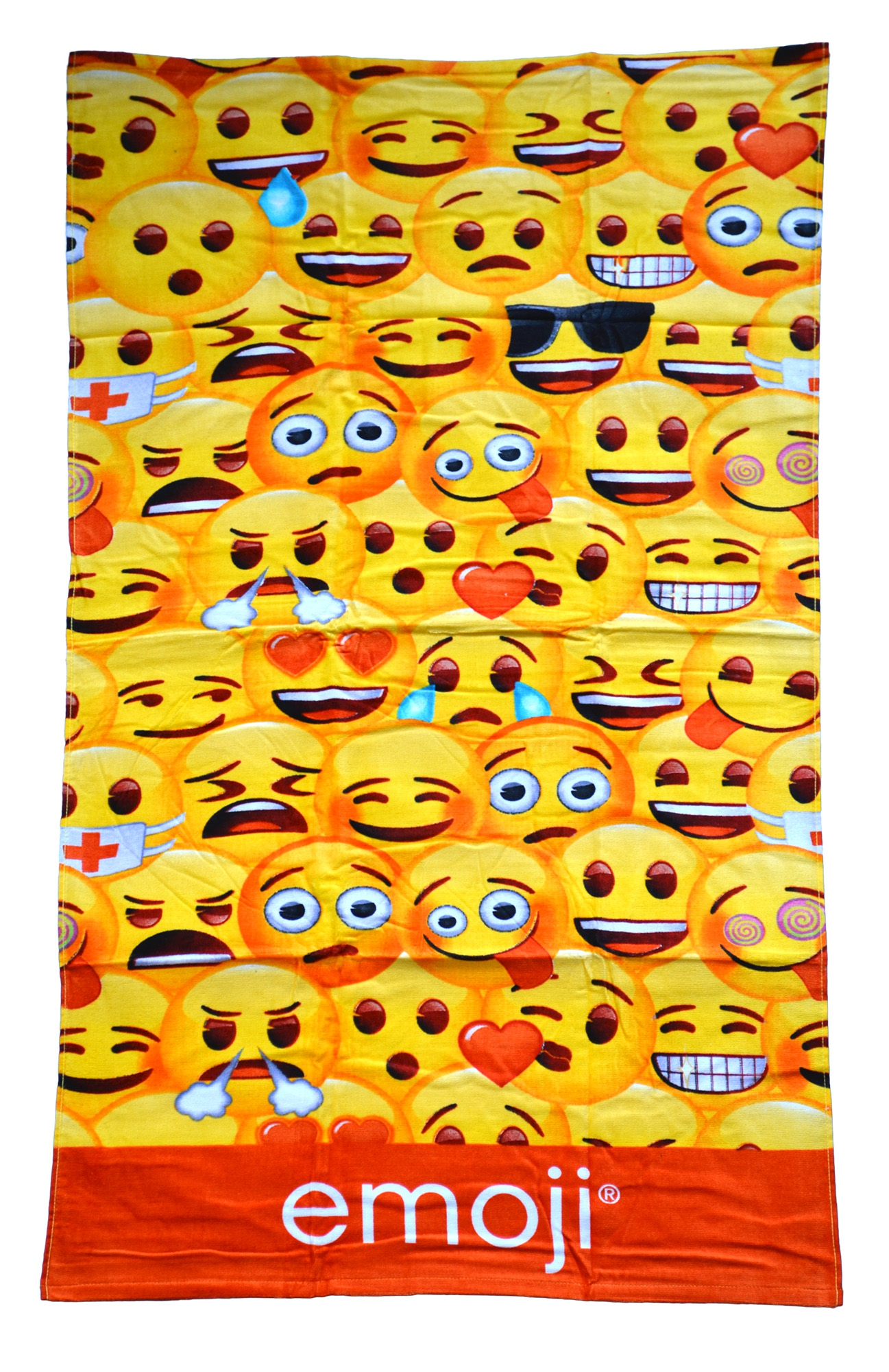 Emoji Multi 'Face' Printed Beach Towel