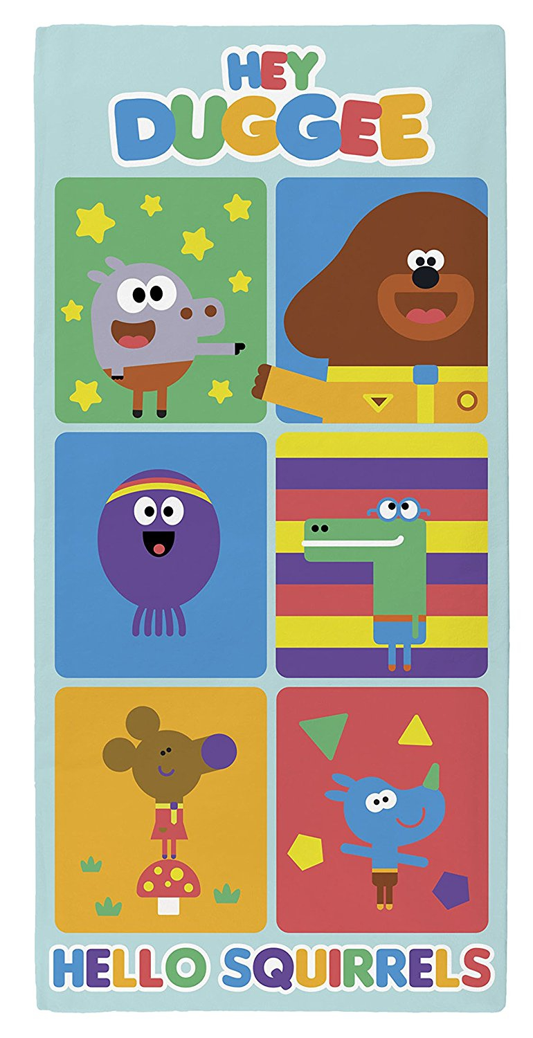 Hey Duggee Hello Squirrels Multi Colour Printed Beach Towel